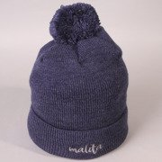Beanie Malita heather navy/grey pompon
