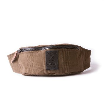Hip Pack Malita checked brown /black label