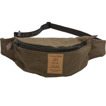 Hip Pack Malita checked brown /brown label