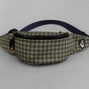 Hip Pack Malita checked khaki