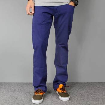 Pants ROTTEN Navy Blue slim fit
