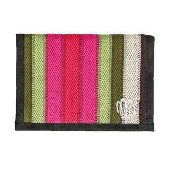 Wallet Malita green/pink stripes