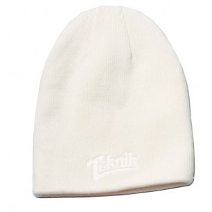 Beanie Teknik DESTROYER white
