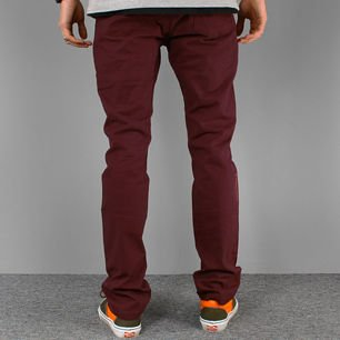 Spodnie STRIPES maroon NEW slim fit