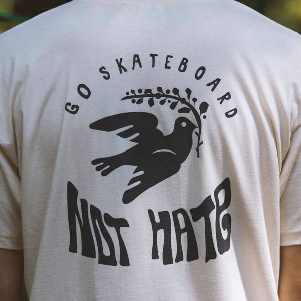 Koszulka Woodcamp GO SKATEBOARDING NOT HATE beige