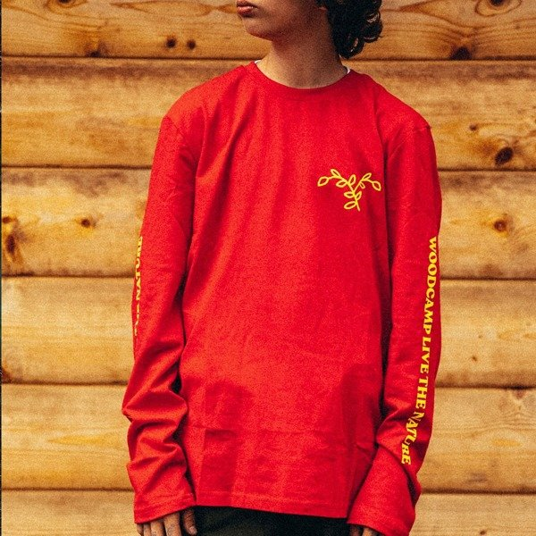 Long sleeve Woodcamp LIVE THE NATURE red