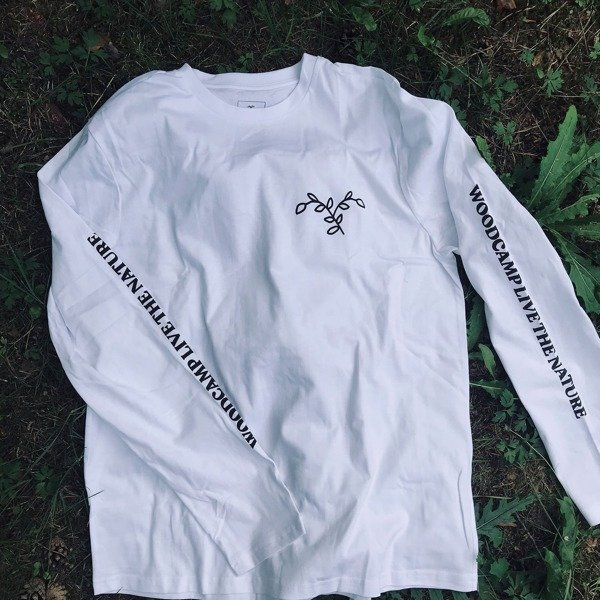 Long sleeve Woodcamp LIVE THE NATURE white