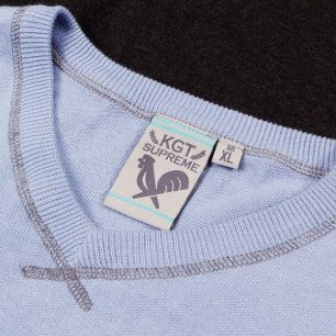 Sweter KGT V-Neck blue/heather grey