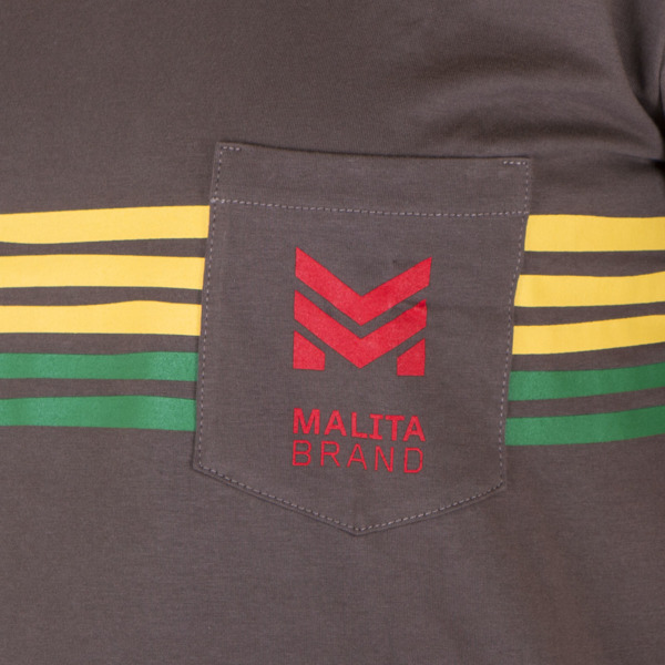 T-shirt Malita STRIPES brown